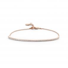 Purity Bracelet - rose´farbenes Armband mit Zwischenteil