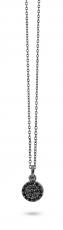 Mini Pendant - schwarz rhodinierte Silberkette mit einem kleinem Anhänger