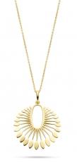 Phoenix Pendant, Kette silber, vergoldet mit strahlenförmigen Anhänger