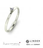 Verlobungsring in Silber mit Zirkonia, in Gold mit Brilliant