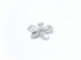 Anhänger Silber, Blumenform
